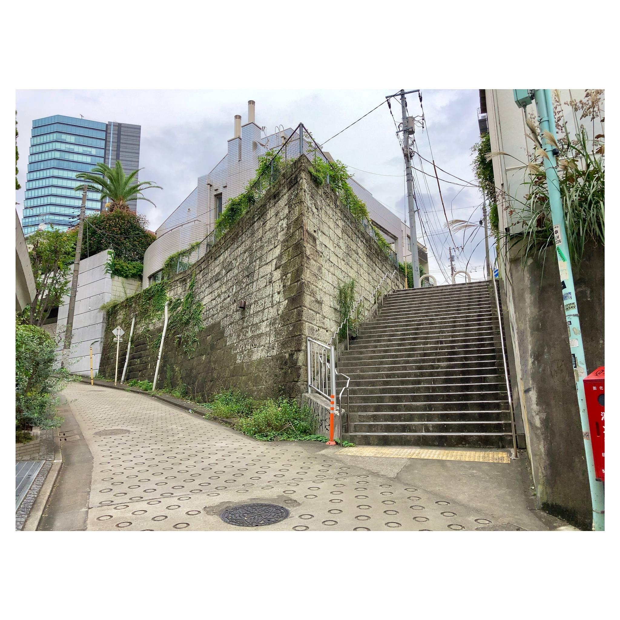 相ノ坂の途中で 東京・目黒区